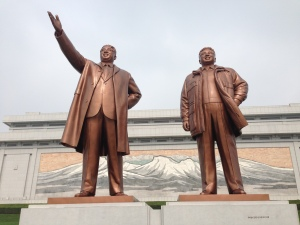 The statues themselves are huge!